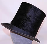 Victorian Corey & Stewart NJ Civil War Tall Lincoln Black Beaver Stovepipe Top Hat
