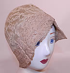 Vintage Ultra Smart by H.H. Co. Ecru Cream Lace Woven Straw Brim Flapper Cloche Hat