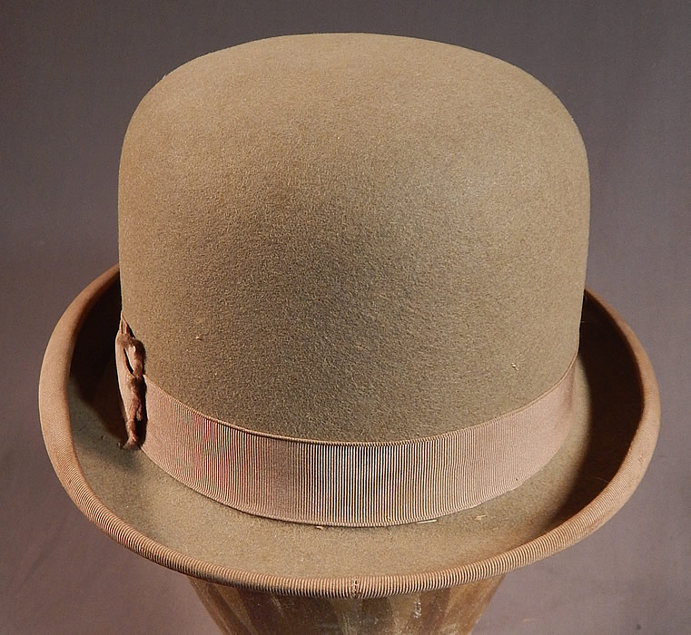 a50831f9138 Vintage Cavanagh Hats New York Men s Felt Taupe Brown Derby Bowler Hat This quality  made mens