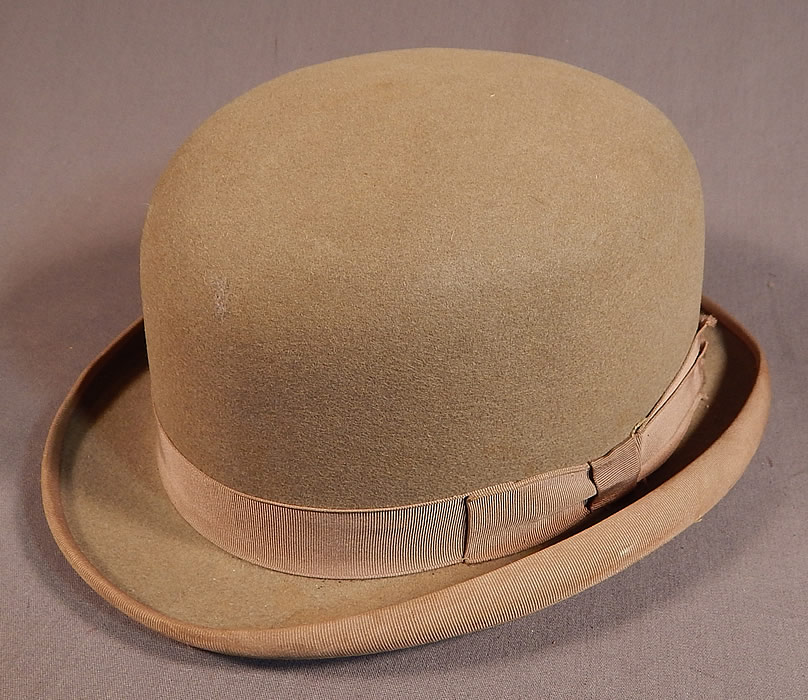 88f81197a89 Vintage Cavanagh Hats New York Men s Felt Taupe Brown Derby Bowler Hat It  is truly a
