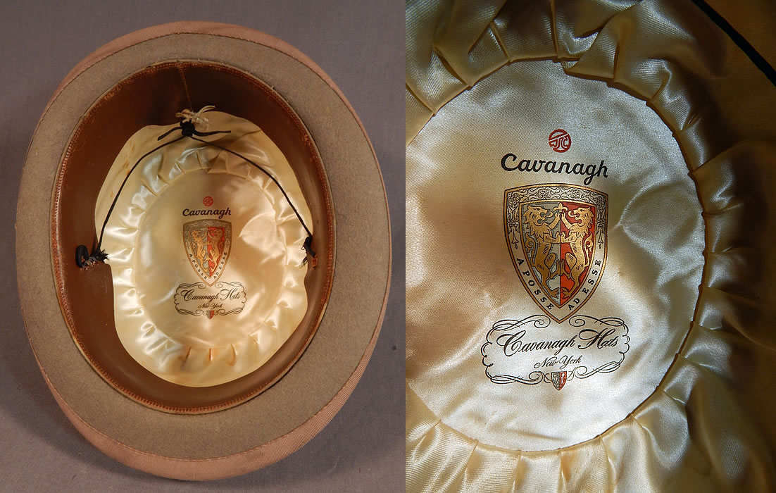 3a12357fc1d Vintage Cavanagh Hats New York Men s Felt Taupe Brown Derby Bowler Hat  There is a