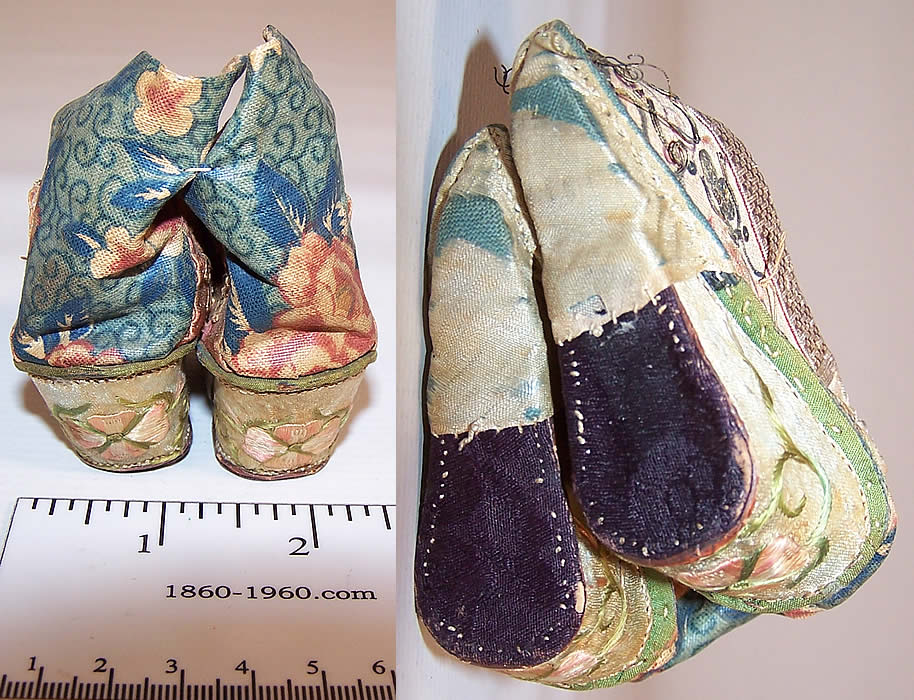 Antique Chinese Lotus Shoes For Sale