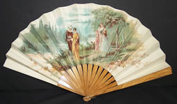 Victorian Lithography Fan