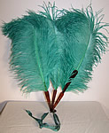 Edwardian Sea Foam Green Ostrich Feather Fan