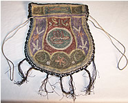 Ottoman Turkish Tugra Embroidered Gold Purse