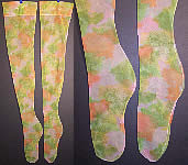 Vintage Water Colors Pastel Thigh High Nylon Stockings