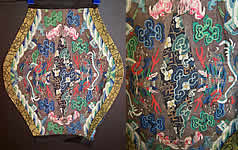 Antique Chinese Kesi Silk Jifu Longpao Dragon Robe Remnant Textile