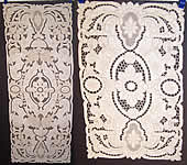 Vintage Madeira Embroidered Linen Lace Cutwork Runner & 8 Placemat Set