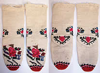 Antique Ottoman Hand Knit Wool Turkish Socks Stockings