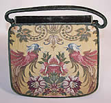 Vintage Nettie Rosenstein Silk Brocade Tapestry Green Velvet Handbag Purse