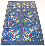 Antique Chinese Birds Silk Embroidered Robe Sleeve Band Cuff Pair Purse Bag