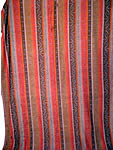 Victorian Antique Jacquard Hand Loom Wool Paisley Striped Shawl Banquet Size
