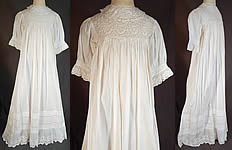 95047b6c82f Victorian Broderie Anglaise Eyelet Cotton Batiste Baptism Christening Gown  Dress