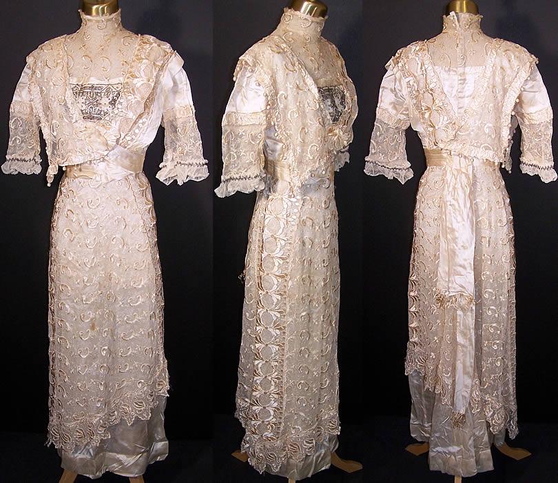 Titanic Silk Lace Beaded Wedding Gown Dress
