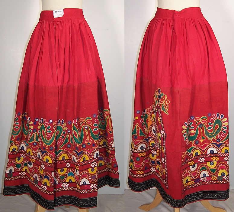 dc842b6f89 Indian Gujarati Pakistan Pakko Embroidery Mirror Skirt